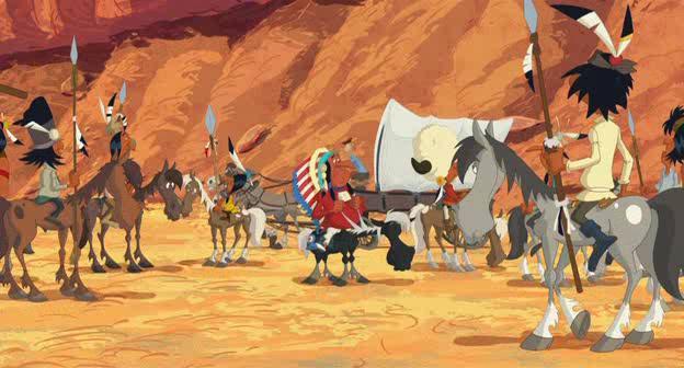 Путешествие на запад - Tous a lOuest: Une aventure de Lucky Luke