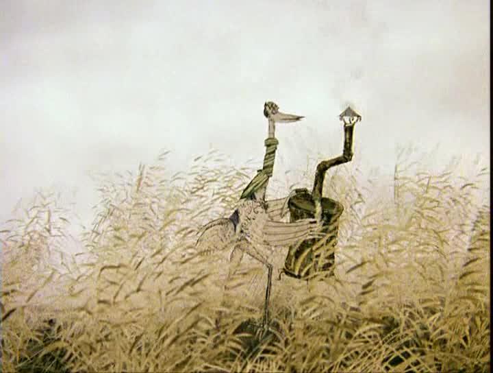 Цапля и журавль