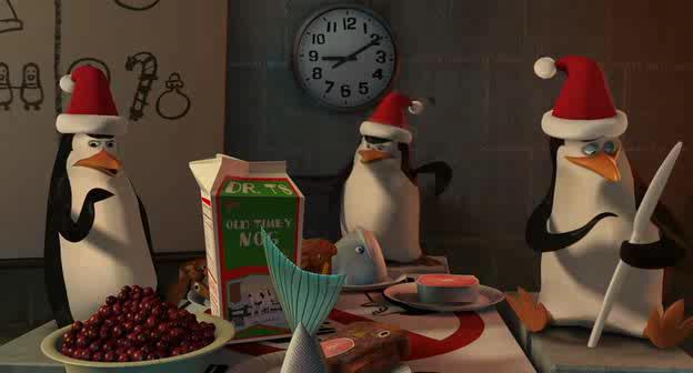 Пингвины из Мадагаскара - The Madagascar Penguins in: A Christmas Caper