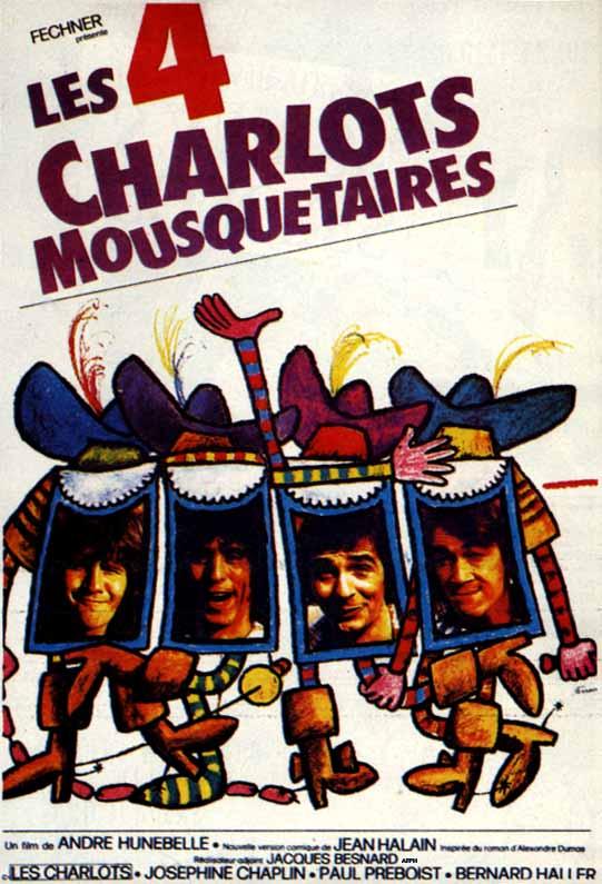 Четыре мушкетёра Шарло - (Les Quatre Charlots Mousquetaires)