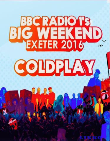 Coldplay - BBC Radio 1's Big Weekend may 29,2016